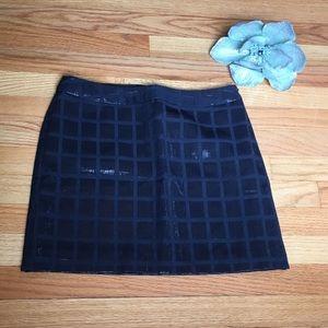 Gap Mod Mini Navy Shimmer Square Skirt sz 2